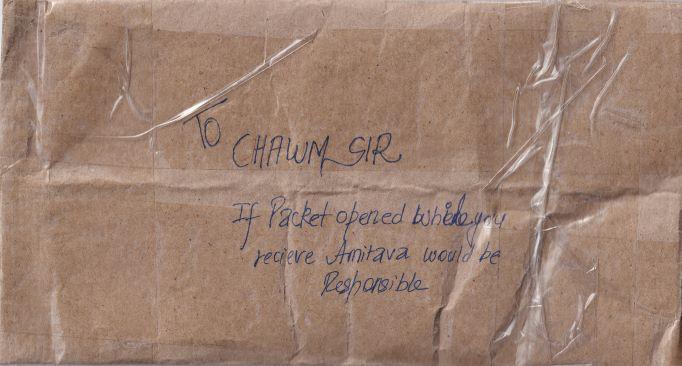 Hitesh Dodeja's envelope