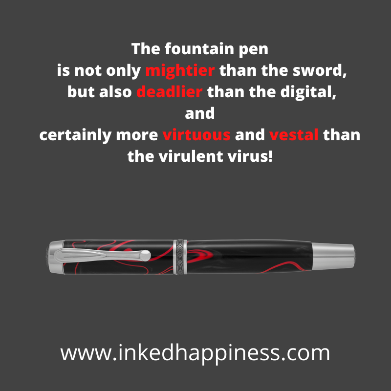 Virus bashing, three finger salutes and the Fountain pen as the ultimate healer!
