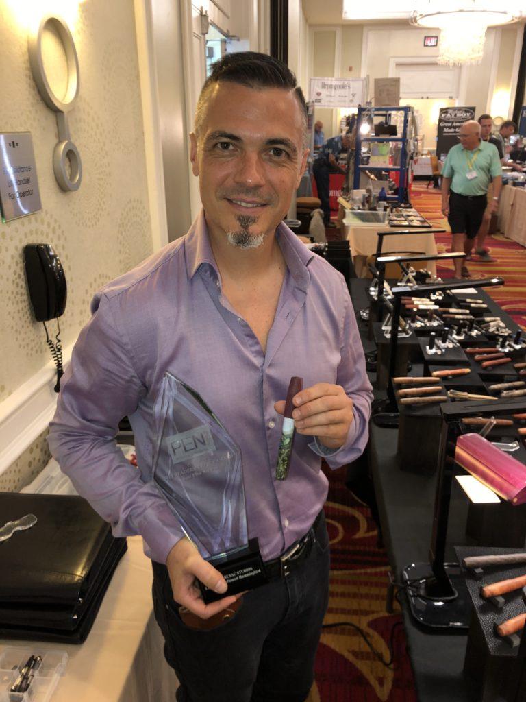 Pen World : Ryan Krusac of Ryan Krusac Studios with his 2019 award